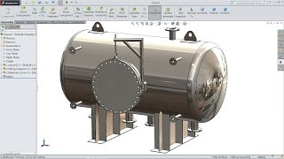 Solidworks tutorial How to make Pressure Vessel in Solidworks