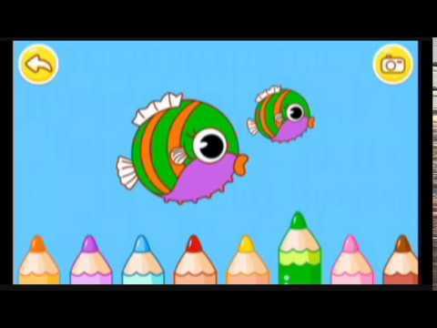 Balık Boyama Oyunu Oynadık Renkli Balıklar Eğlenceli çocuk