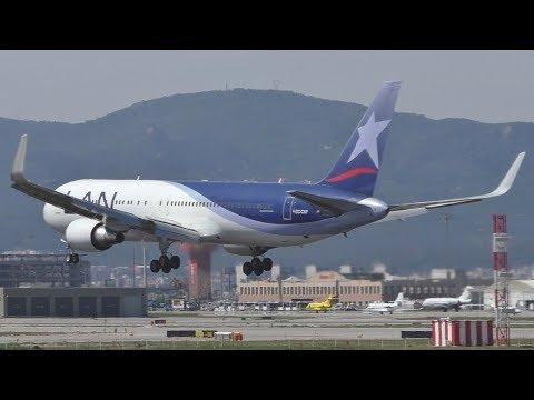 18 Afternoon Landings at Barcelona-El Prat Airport | 787 767s A321s & More