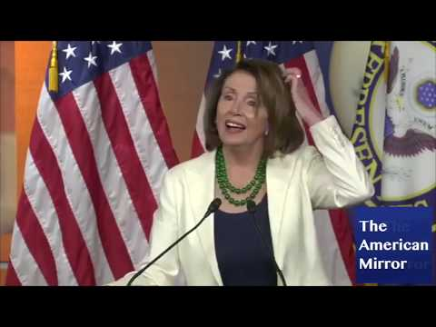 Nancy Pelosi loses breath during short sentences, suffers brain freezes, repeats words