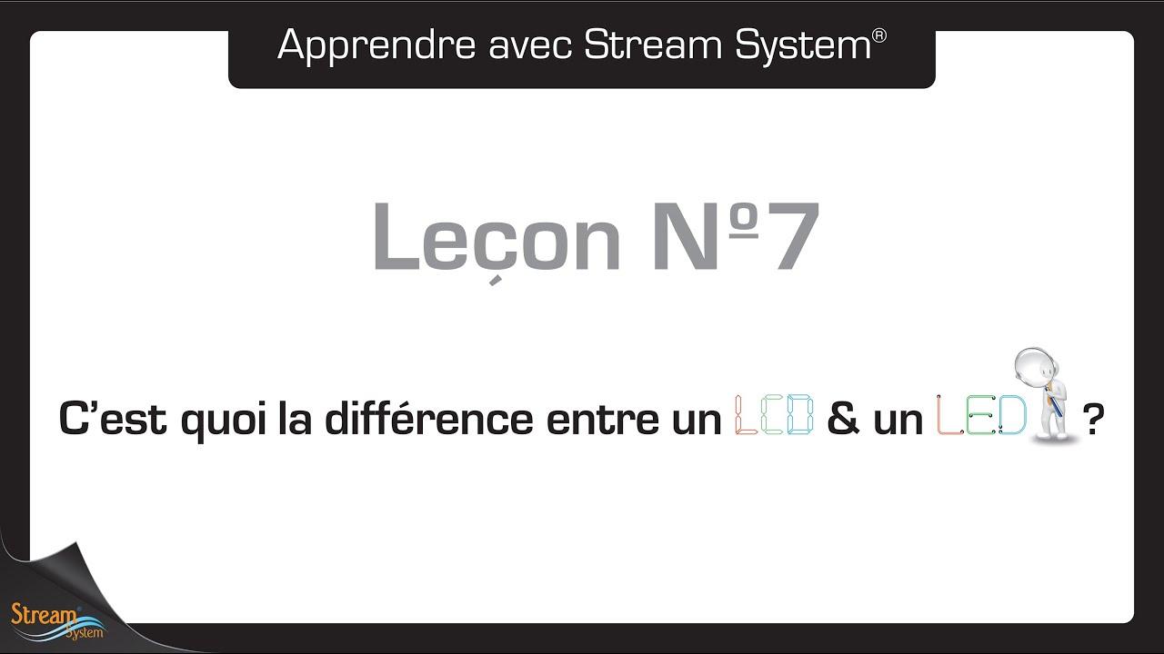 Le on n 7 c 39 est quoi la diff rence entre un led et un lcd youtube - Difference entre conciliateur et mediateur ...