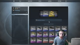 CSGO - KNIFE HYPE, First CSGO Knife Case Reaction (Counter Strike Knife Case Opening)