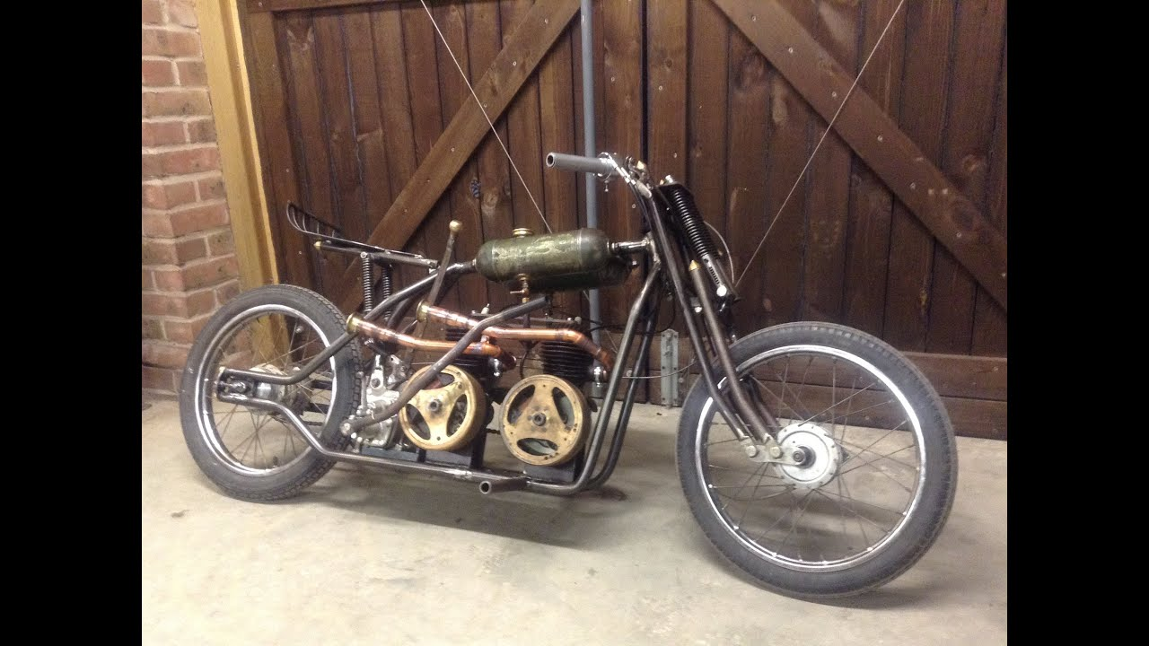 Homemade Villiers Twin Engine Bike Pictures Videos Youtube