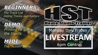 Studio One Live-BEGINNERS: The Track List | DEMO:Printing FX | MIDI: The Action Menu