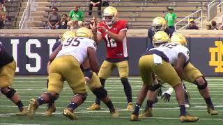 WATCH: Notre Dame Scrimmage Highlights Aug  20