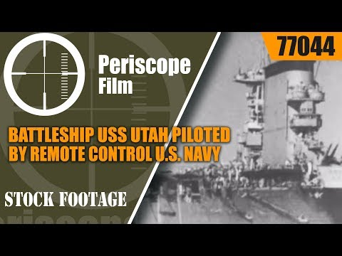 BATTLESHIP USS UTAH PILOTED BY REMOTE CONTROL U.S. NAVY 1930s  77044
