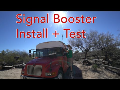 WEBOOST 4G-X OTR Cell Phone Signal Booster INSTALLATION + SIGNAL TEST REVIEW (custom 12v hardwire)