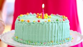 Funfetti BIRTHDAY CAKE with Bubblegum Buttercream Frosting - Gemma's Bigger Bolder Baking Ep. 28