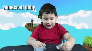 Minecraft Nano Diecast Figs Toy Review & Roblox Minecraft Obby Gaming