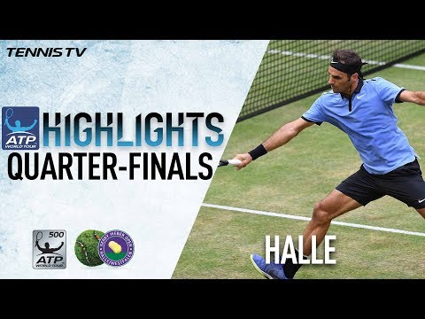 Highlights: Federer, NextGenATP Stars Win Friday In Halle 2017