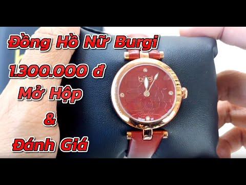 Mở Hộp Review Đồng Hồ Nữ Burgi Women Red Watch 1.300.000 đ