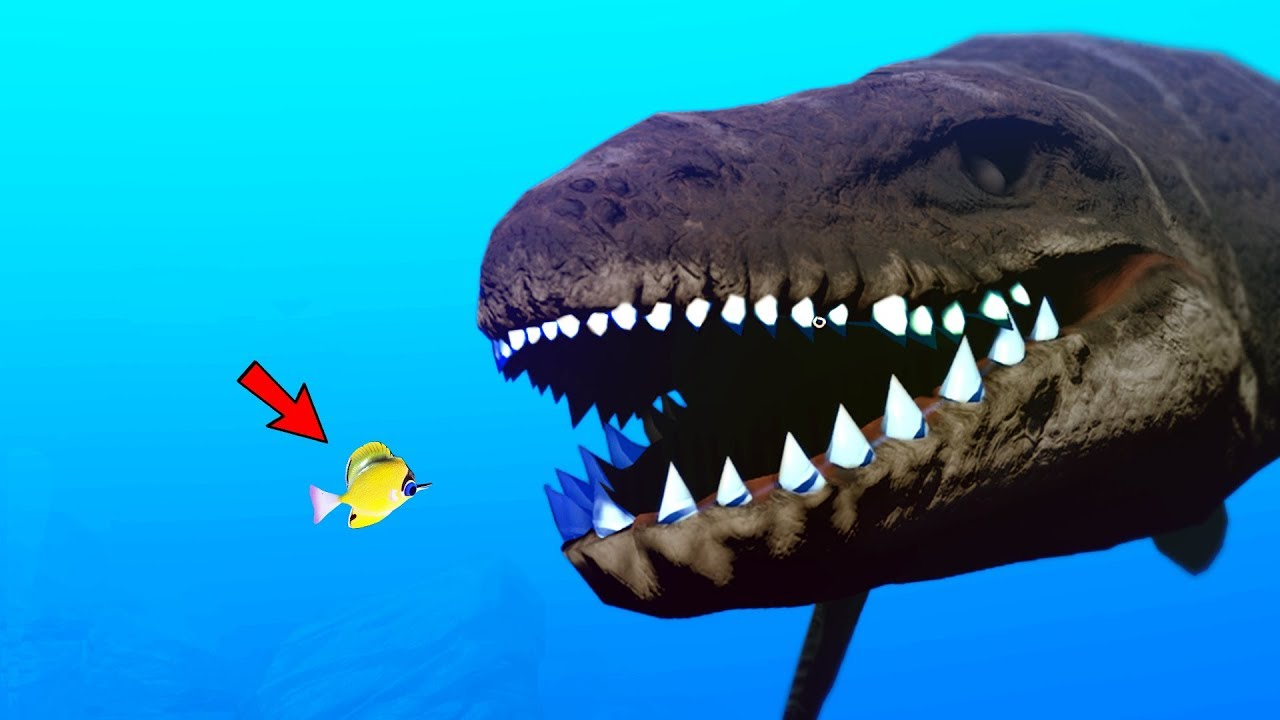 Lvl 1 000 000 giant croc vs tiny fish feed and grow for Feed and grow fish online