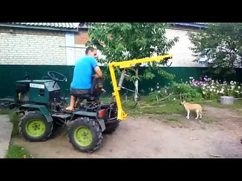 Crane for tractor