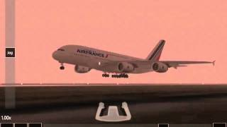 infinite flight airbus a380 ils approaching landing denver kden no auto pilot manual flying