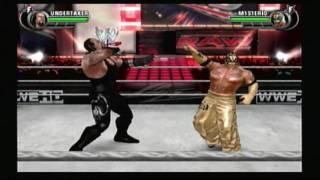 WWE AllStar Wii Gameplay + Match Undertaker vs Rey Mysterio