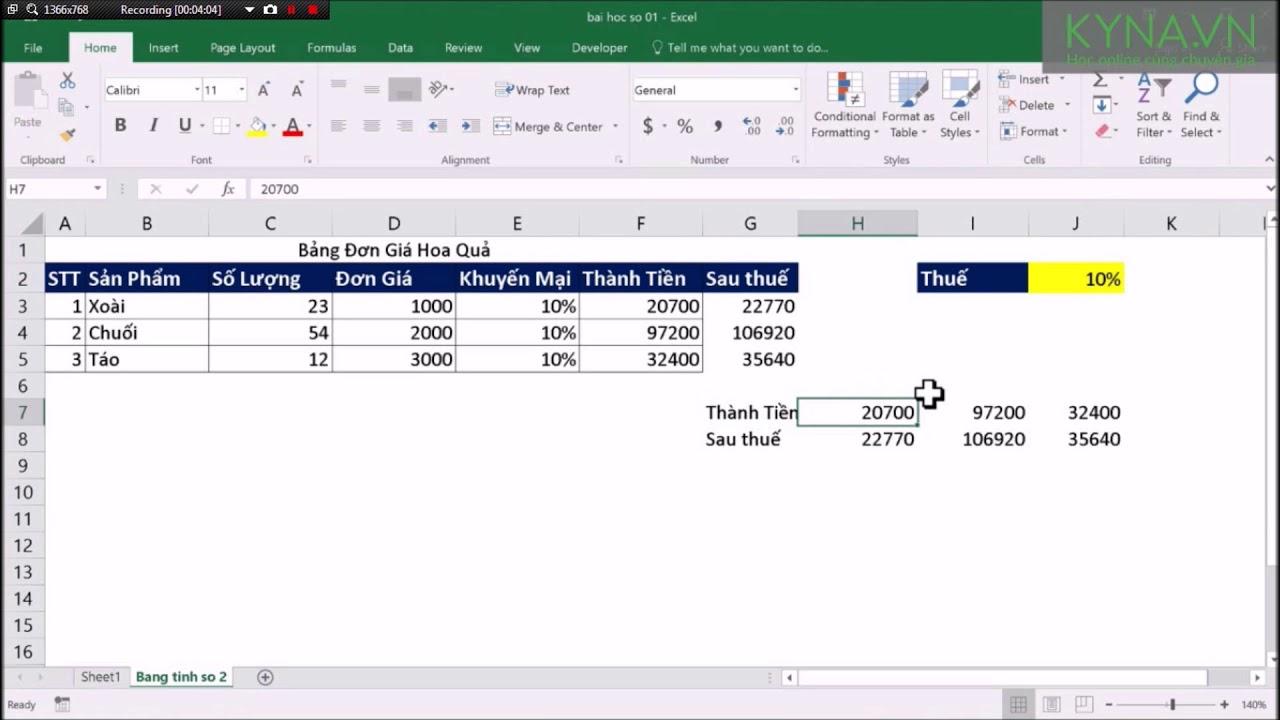Địa Chỉ Tương Đối Và Tuyệt Đối Trong Excel 2016
