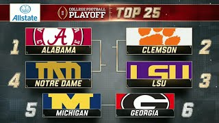 College Football Playoff: Top 25 | (October 30th, 2018)
