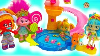 Trolls Poppy + DJ Suki Meet New Season 7 Shopkins Shoppies Pretti Pressie & Pineapple Lily