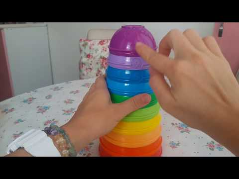 Fisher Price eğitici bebek oyuncakları - Yeni Numarali Kaplar - Renkli kule