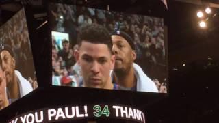 Paul Pierce emotional as Boston Celtics crowd welcomes him back one last time