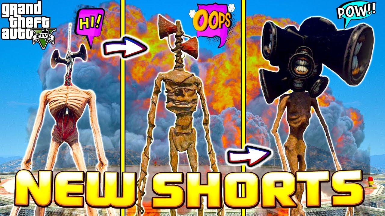 Прокачал Сиреноголового до 500 уровня в ГТА 5 моды. Обзор видео и ваша реакция. #Shorts