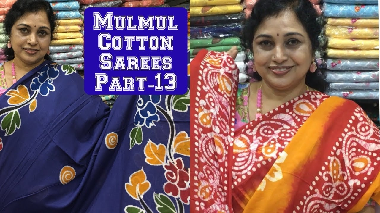 Mulmul Cotton Saree part-13,Surekha Selections,Vijayawada,8978131771