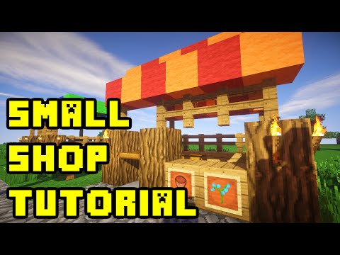 Minecraft: Market Shop/Stall/Stand Design Tutorial (Town/City/Village) Xbox/PC/PE/PS3
