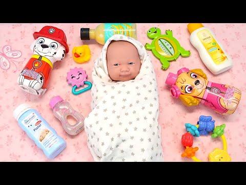 Время Купать Реборн Как Мама Играла с Куклой Мыла Переодевала Мультик для детей 108маматв