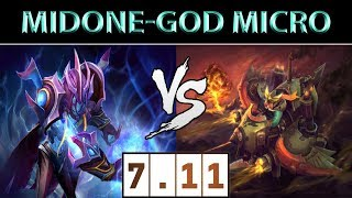 MidOne [Arc Warden] vs [Gyrocopter] ► God Micro ► Dota 2 7.11