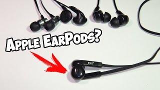 Китайские наушники типа Apple EarPods фирмы BYZ YouTube Videos