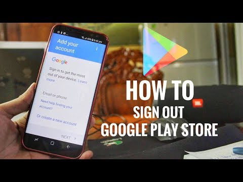 How To Sign Out from Google Play Store Account EASY 2017