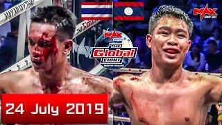 Blood Fight! [ LAOS VS THAI ] NEYMAR STP RECYCLE VS CHAICHANA EMPIREGYM I The Global Fight 2019 คู่5