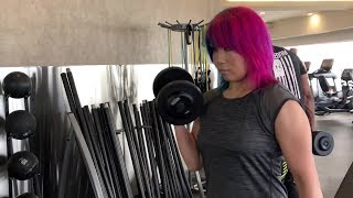 Asuka hits the weight room: WrestleMania Diary