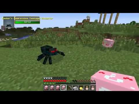 Pat and Jen PopularMMOs Minecraft MAN EATING PLANT CHALLENGE GAMES Lucky Block Mod Modded