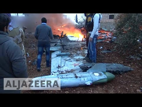 🇸🇾 Russian Sukhoi fighter jet shot down in Syrias Idlib