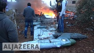 🇸🇾 Russian Sukhoi fighter jet shot down in Syria's Idlib