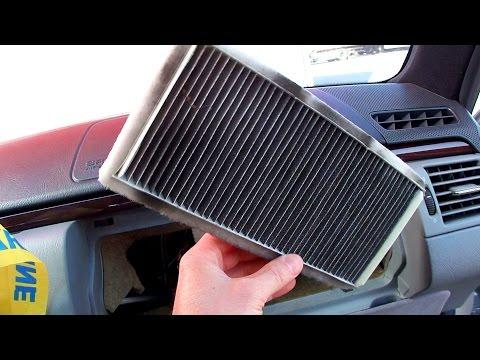 Замена салонного фильтра Mercedes W210 cabin filter replacement