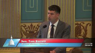Sen. Barrett speaks in support of FY 2020 corrections budget