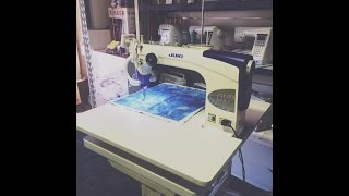 Juki TL2200 QVP Sit Down Long Arm Quilting Machine Demonstration