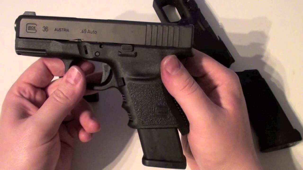 Glock 36 with the SF Grip of a Glock 29/30 Frankenstein Glock