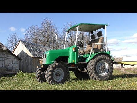 Самодельный трактор 4x4 с двигателем MAZDA 323. Обзор. Часть 2