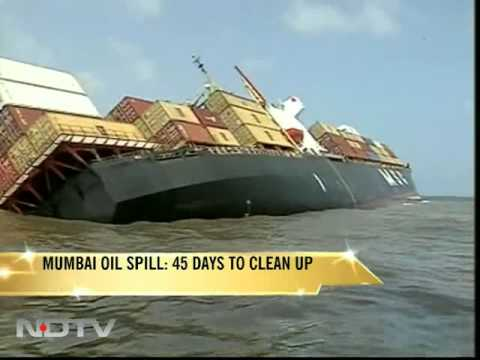 Mumbai oil spill: Clean up to take 45 days