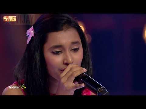 Super Singer Junior - Kanna Kaattu Podhum by Aswathi