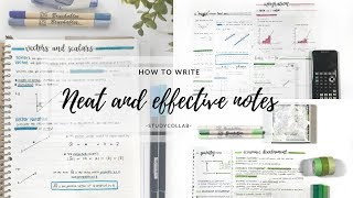 HOW TO TAKE NEAT AND EFFECTIVE NOTES FROM A TEXTBOOK + TIPS | studycollab: alicia