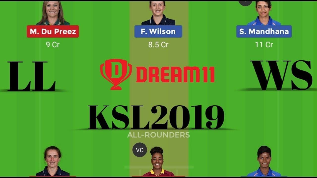 WS vs LL Womens Super League 2nd T20 Dream11 Team | WS Vs LL Playing11  Batting Order | #WomensT20