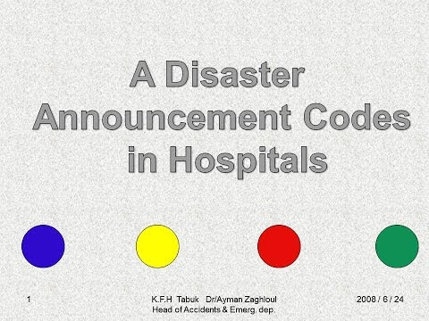 Code yellow, Code red & Code green at hospitals in emergency situations