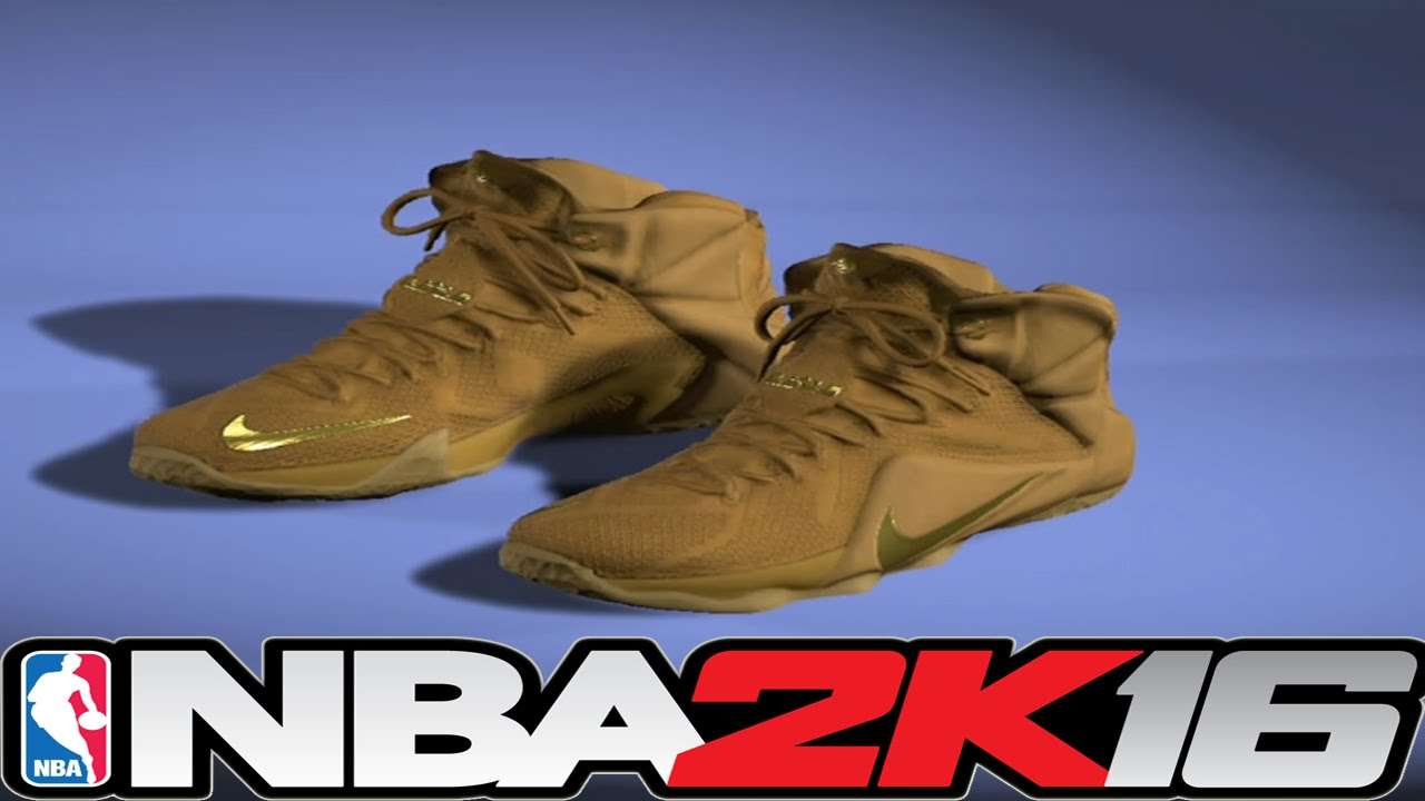 e464d3efeb6 ... italy nba 2k16 shoe creator lebron 12 wheat nba2k16 youtube 6cbf0 6610b