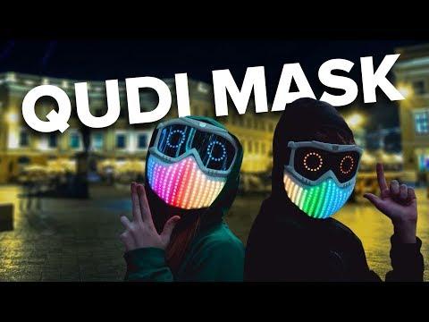 Світлодіодна маска Qudi. Гімназист-винахідник об'єднав брейк-данс із програмуванням