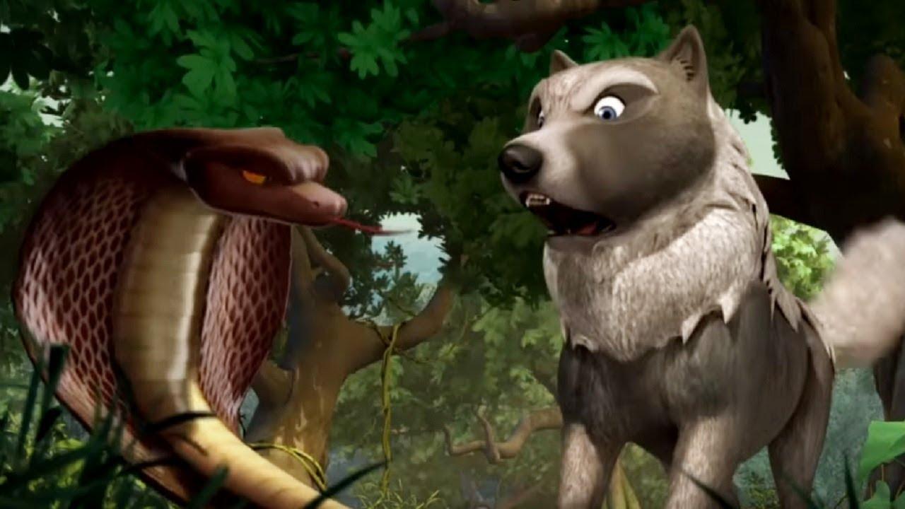 Маугли - Книга Джунглей - Укус змеи –развивающий мультфильм для детей