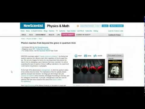 Quantum Particle Still Entangled Beyond The Grave (6th Oct 2012)